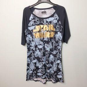 Star Wars night shirt gown dress size Xlarge